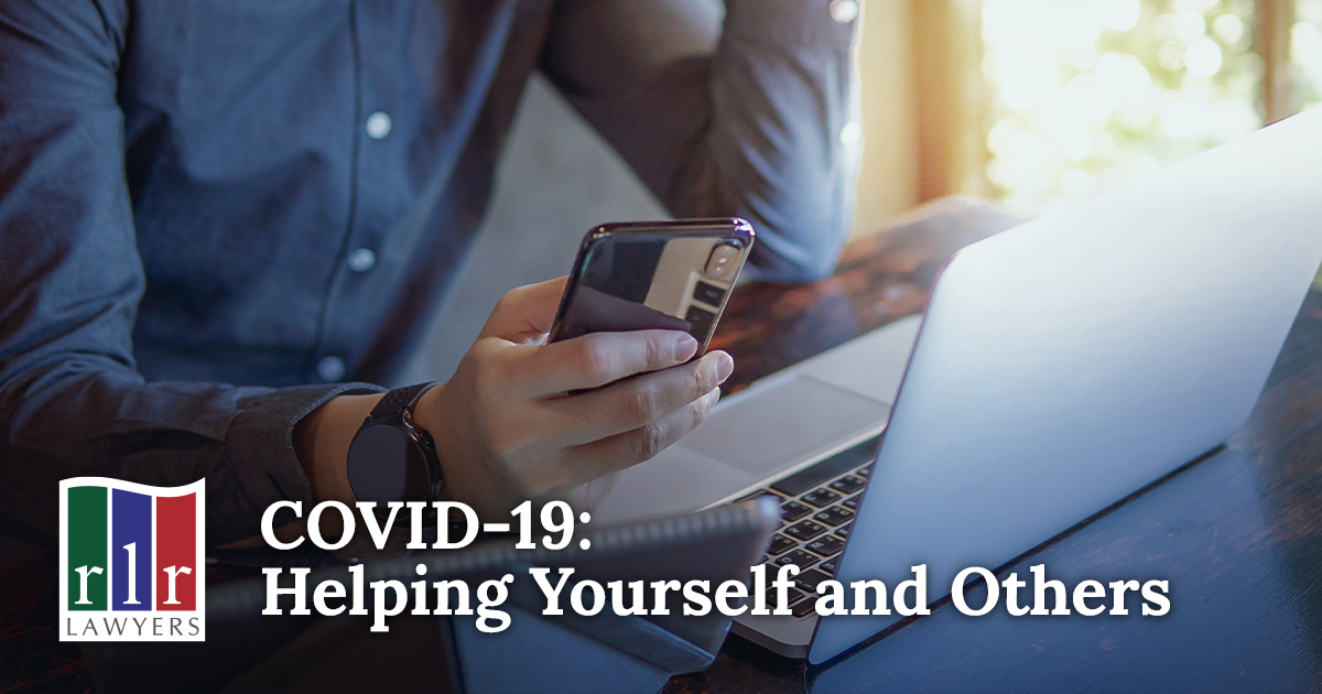 COVID-19: Helping Yourself and Others